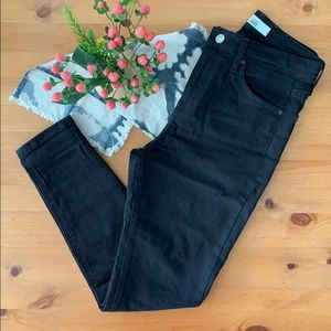 Topshop Moto Jamie Jeans, BLACK, Size 28